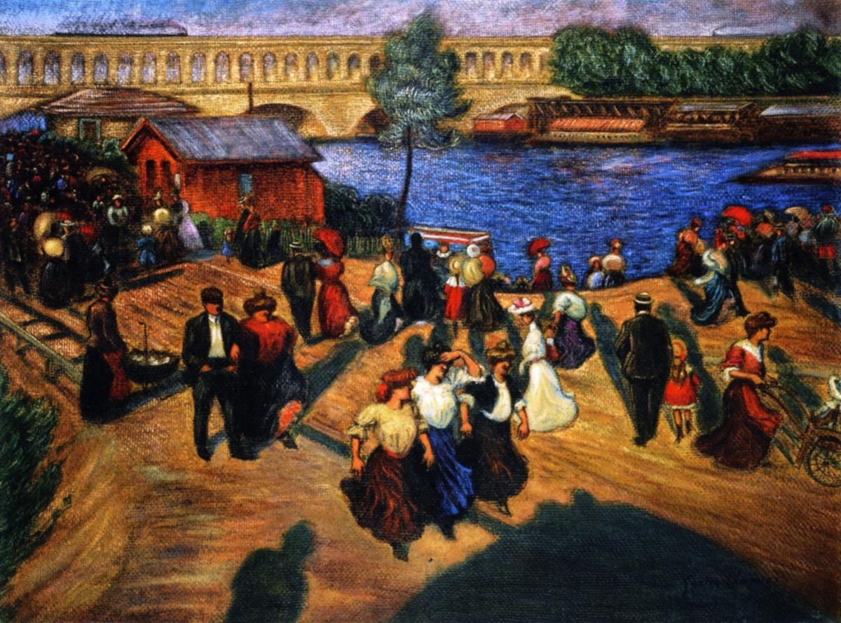 Набережная Жавель, 1905 год – Художник Gaston Prunier