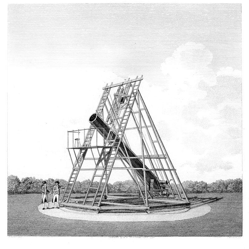 Телескоп Гершеля, на котором были совершены главные открытия