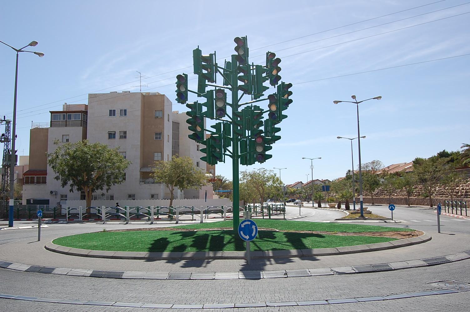 Памятник последнему светофору в Эйлате, Израиль
