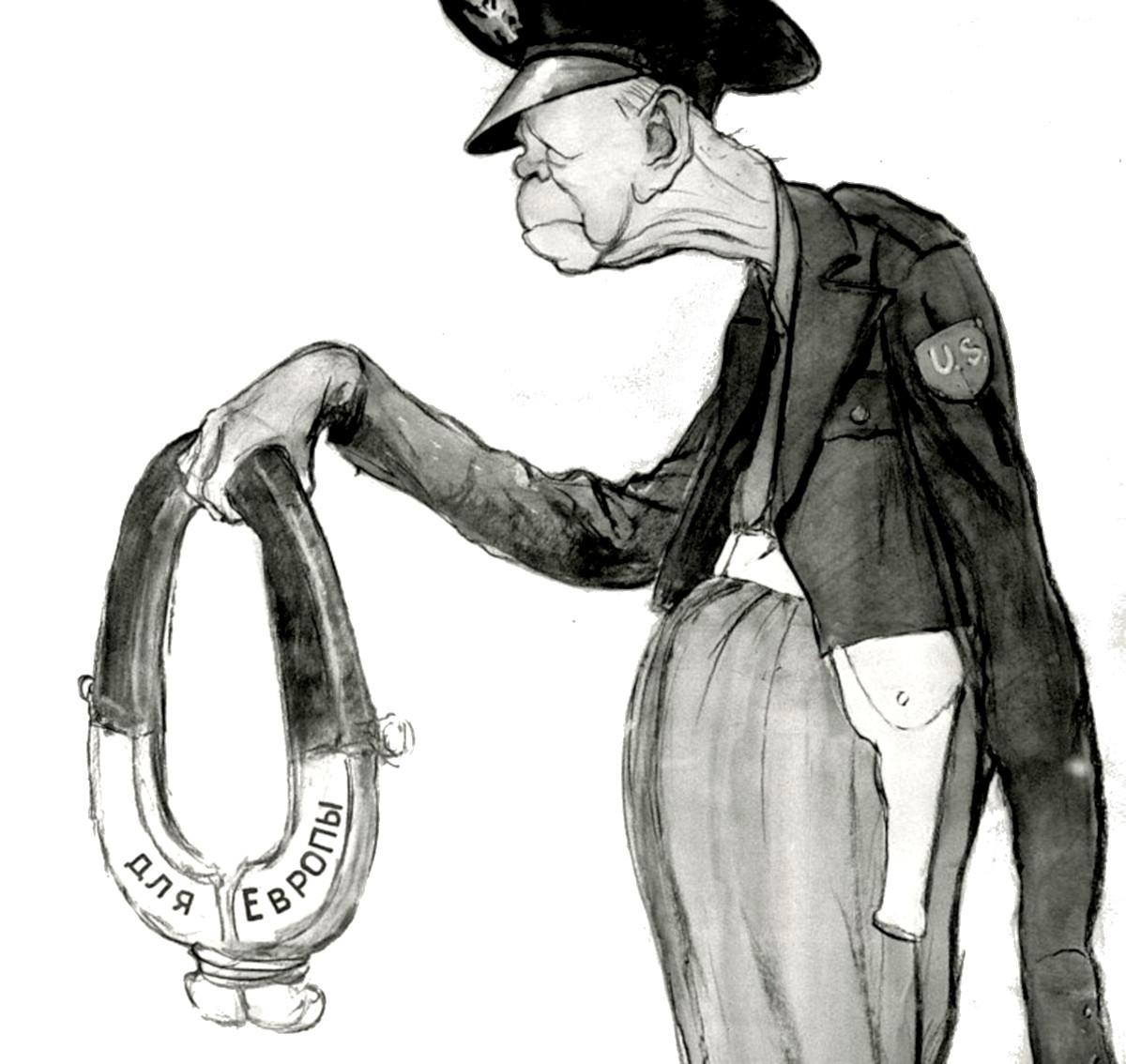 Джордж Маршалл, советская карикатура – Художники Кукрыниксы, 1951