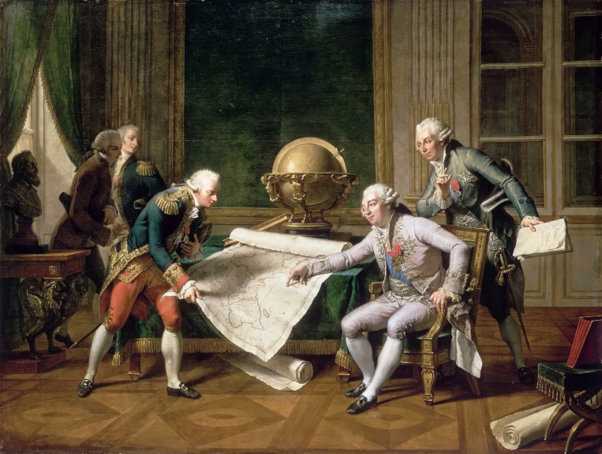 Людовик XVI дает инструкции Лаперузу 29 мая 1785 года. Художник Николя-Андре Монсио. Версальский дворец