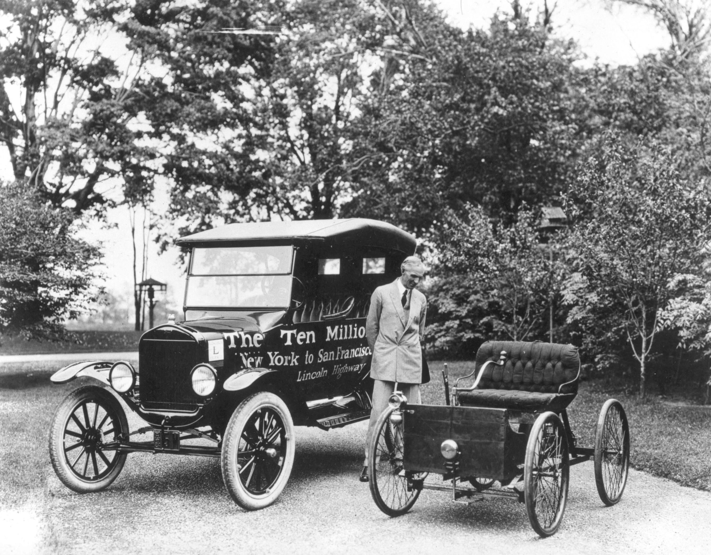 Генри Форд, Первый его автомобиль и 10-миллионный Форд Т