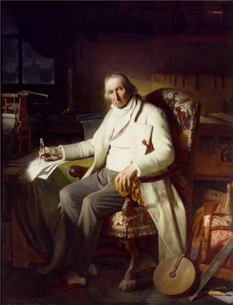Жозеф Мари Жаккар, последний прижизненный портрет кисти Клода Боннефона (1834)
