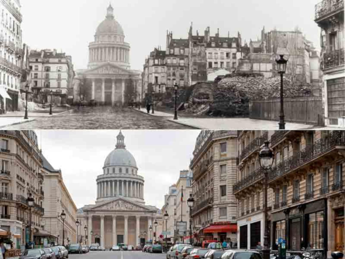 Париж до и после османизации. Улица Суфло